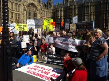 Hope for Horses UK first London protest outside Parliament